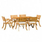 Christopher Knight Home Hermosa Acacia Dining Set, 7-Pcs Set, Teak Finish