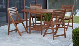 Cosco Outdoor Living 87455ACA1E Acacia Patio Dining Set, Brown