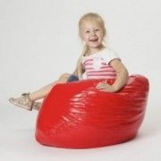Taylor Red Vinyl Kids Bean Bag