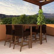 COSCO Outdoor Living SmartWick Dining Set, Dark Brown