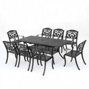 Christopher Knight Home Abigal Outdoor Cast Aluminum Dining Set, 9-Pcs Set, Shiny Copper Finish