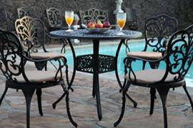 GrandPatioFurniture.com Outdoor Cast Aluminium CBM-Patio 5 Piece Butterfly Dining Set SH213-SH045