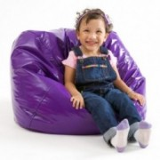 Taylor Purple Vinyl Kids Bean Bag