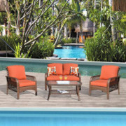 XIZZI Patio Sets, Outdoor Patio Furniture, All Weather Patio Furniture, PE Rattan Wicker with 2 Pillows and 1 Furniture Cover