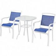 Mainstays Sand Dune 3-Piece Outdoor Regular Height Bistro Set, Seats 2  Blue