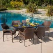 Sonora Outdoor 7pcs Cast Aluminum Wicker Dining Set