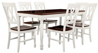 Crosley Furniture Shelby 7-Piece Dining Set, White