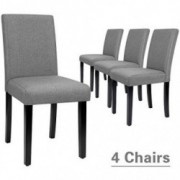 Furmax Dining Chairs Urban Style Fabric Parson Chairs Kitchen Living Room Armless Side Chair with Solid Wood Legs Set of 4  G