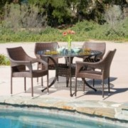 Sonora Outdoor 5pcs Cast Aluminum Wicker Dining Set