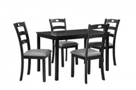 Pearington PEAR-4804 Dining Set, Black/Grey