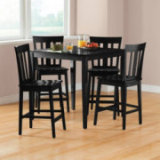 Mainstays 5-piece Counter Height Dining Set, Warm in Black