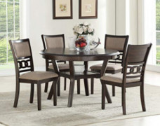 New Classic Furniture Gia Round Dining Set, Cherry