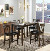 Harper & Bright Designs 5 Piece Wood Dining Table Set, Vintage Rectangular Counter Height Bar Table with 4 Chairs for Dining