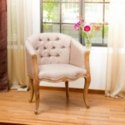 Morrison French Light Brown Accent Chair