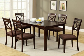 Williams Home Furnishing CM3400T-7PK Weston II Dining Table Set, Espresso