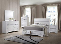 Kings Brand Furniture - 6-Piece Watson Queen Size Bedroom Set. Bed, Dresser, Mirror, Chest & 2 Night Stands