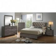 Furniture of America Charlsie 4-Piece Queen Bedroom Set in Antique Gray