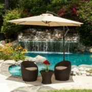 Acosta Outdoor Cantilever Patio Canopy Waterproof Umbrella