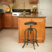 Dempsey Brown Convex Swivel Adjustable Bar Stool