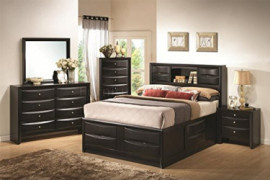 Coaster Fine Furniture Briana bedroom 4 pc Includes,  1 queen bed, 1 night Stand, 1 Dresser, 1 Mirror