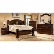 Carefree Home Furnishings Burleigh Transitional Style Cherry Finish King Size 6-Piece Bedroom Set
