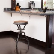 Henry Adjustable Iron Bar Stool