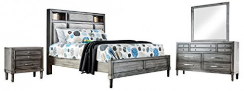 HOMES: Inside + Out Winthrop Transitional 4-Piece Bedroom Set, Eastern King