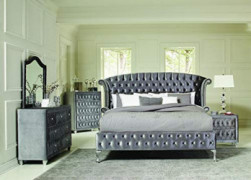 Coaster Deanna 5-Piece Eastern King Bedroom Set Grey Grey/Modern