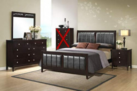 GTU Furniture Contemporary Styling Rosa 4Pc Queen Bedroom Set Q/D/M/N