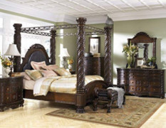 "Ashley Furniture ""North Shore 6 Piece Canopy Bedroom Set in King or California King  King"