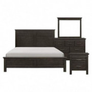 Blaire Farm Transitional Queen Bedroom Set in Charcoal Gray, 5-Piece