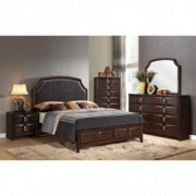 ACME Furniture 24570Q Lancaster Bed, Queen, Espresso PU/Espresso