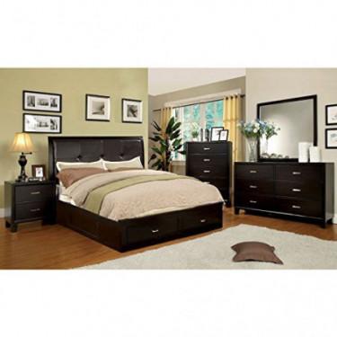 247SHOPATHOME bedroom-furniture-sets, Queen, Espresso