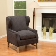Mabel Dark Grey Fabric Wingback Arm Chair