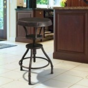 Austin Industrial Design Adjustable Height Bar Stool