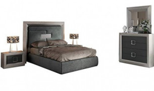 Enzo Modern Queen Bedroom Set in Grey, 5-Piece
