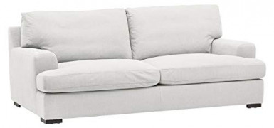 """Amazon Brand – Stone & Beam Lauren Down-Filled Oversized Sofa Couch with Hardwood Frame, 89""""W, Pearl"""