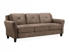 """Lifestyle Solutions Collection Grayson Micro-fabric SOFA, 80.3"""" x 32"""" x 32.68"""", Brown"""