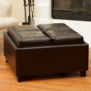 Lonnie 4-Tray-Top Ottoman Coffee Table w/ Storage