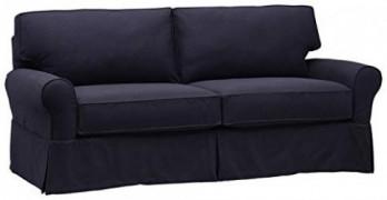"Amazon Brand – Stone & Beam Carrigan Casual Large Sofa, 88.5""W, Navy"