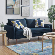 Modway Revive Contemporary Modern Fabric Upholstered Sofa In Azure