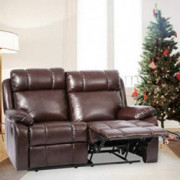 Recliner Sofa Loveseat Leather Sofa Recliner Couch Manual Reclining Sofa Recliner Chair, Love Seat, and Sofa for Living Room