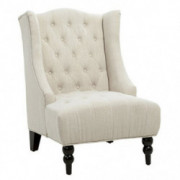 Christopher Knight Home Toddman High Back Club Chair, Light Beige