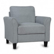 Knocbel Modern Armchair Single Sofa Lounge Chair with Armrest, Upholstered Seat & Backrest for Living Room Furniture  Gray