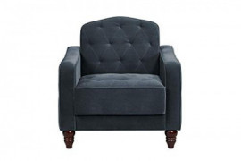 Novogratz Vintage Tufted Armchair, Blue Velvet