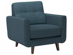 "Amazon Brand – Rivet Sloane Mid-Century Modern Armchair with Tapered Legs, 32.7""W, Denim"