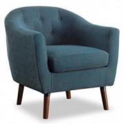 Homelegance Fabric Barrel Chair, Blue