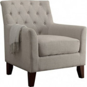 Rosevera Home Fina Fabric Tufted Armchair, Beige