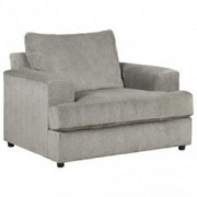 Signature Design by Ashley - Soletren Modern Oversized Chenille Chair, Gray