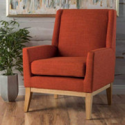 Christopher Knight Home Aurla Fabric Accent Chair, Muted Orange